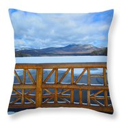 Winter At Chocorua Lake  Throw Pillow