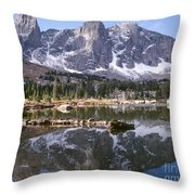 Cirque Of The Towers In Lonesome Lake 4 Throw Pillow