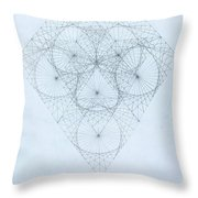 Diamond Quanta Throw Pillow