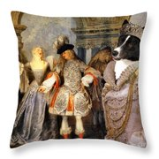 Karelian Bear Dog Art Canvas Print Throw Pillow