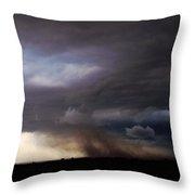052913 - Severe Storms Over South Central Nebraska Throw Pillow