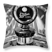 1911 Cadillac Roadster Hood Ornament Throw Pillow