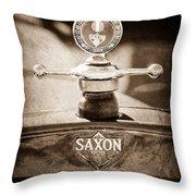 1915 Saxon Roadster Hood Ornament Throw Pillow