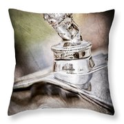 1927 Franklin Sedan Hood Ornament Throw Pillow by Jill Reger
