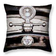 1928 Dodge Brothers Hood Ornament - Moto Meter Throw Pillow
