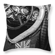 1931 Bentley 4.5 Liter Supercharged Le Mans Steering Wheel -1255bw Throw Pillow