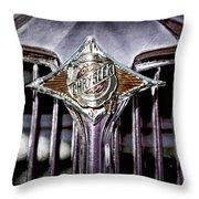 1933 Chrysler Sedan Grille Emblem Throw Pillow
