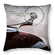 1933 Pontiac Hood Ornament Throw Pillow