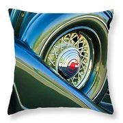 1933 Pontiac Spare Tire -0431c Throw Pillow