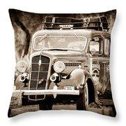 1935 Plymouth Taxi Cab Throw Pillow