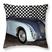 1936 Bugatti 57g Tank Throw Pillow