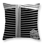 1936 Desoto Airstream Grille Emblem Throw Pillow