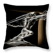 1936 Packard Hood Ornament Throw Pillow