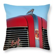 1937 Buick Boattail Roadster Grille Emblems Throw Pillow