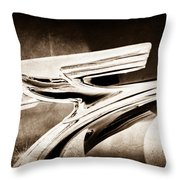 1937 Chevrolet 2 Door Sedan Hood Ornament Throw Pillow