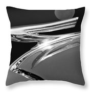 1937 Chevrolet Hood Ornament Throw Pillow