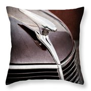1937 Ford Hood Ornament Throw Pillow