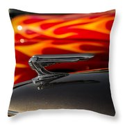 1939 Graham Coupe Hood Ornament Throw Pillow by Ron Pate