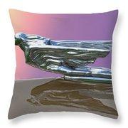 1941 Cadillac Fleetwood Hood Ornament Throw Pillow