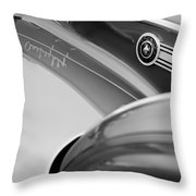 1941 Packard 1907 Custom Eight One-eighty Lebaron Sport Brougham Side Emblems Throw Pillow