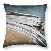 1941 Pontiac Hood Ornament Throw Pillow