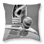 1942 Lincoln Continental Cabriolet Hood Ornament Throw Pillow