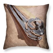 1947 Chevrolet Deluxe Hood Ornament Throw Pillow