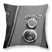 1949 Healey Silverstone Taillight Emblem Throw Pillow