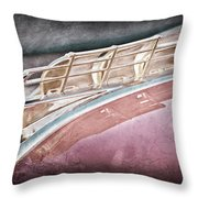 1949 Plymouth Hood Ornament Throw Pillow