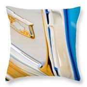 1953 Chevrolet Belair Convertible Emblem Throw Pillow
