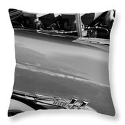 1953 Hudson Hornet Sedan Engine Throw Pillow