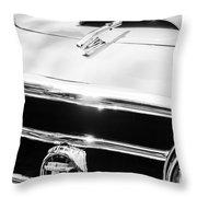 1953 Nash-healey Convertible Grille Emblem Throw Pillow