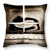 1954 Chevrolet Deluxe Grille Emblem Throw Pillow