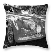 1954 Jaguar Xk 120 Se Ots  Bw Throw Pillow
