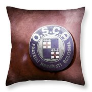 1954 O.s.c.a. Mt4 Maserati Emblem Throw Pillow