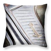 1955 Lincoln Capri Emblem Throw Pillow