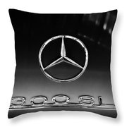 1955 Mercedes-benz Gullwing 300 Sl Emblem Throw Pillow