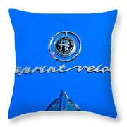 1956 Alfa Romeo Sprint Veloce Coupe Emblem Throw Pillow