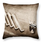 1956 Ford Thunderbird Emblem Throw Pillow