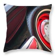 1957 Ford Fairlane Convertible Wheel Emblem Throw Pillow