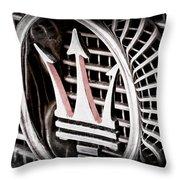 1957 Maserati Grille Emblem Throw Pillow