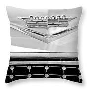 1958 Cadillac Eldorado Biarritz Convertible Emblem Throw Pillow by Jill Reger