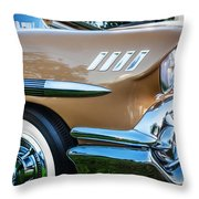 1958 Chevrolet Bel Air Impala Painted  Throw Pillow