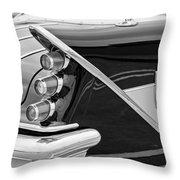 1959 Desoto Adventurer Convertible Tail Light Emblem Throw Pillow