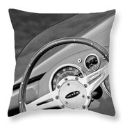 1959 Devin Ss Steering Wheel Throw Pillow