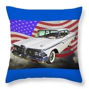 1959 Edsel Ford Ranger Throw Pillow
