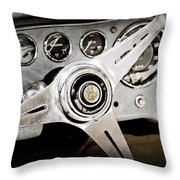 1960 Maserati Steering Wheel Emblem Throw Pillow