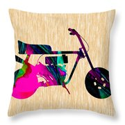 1960s Mini Bike Throw Pillow