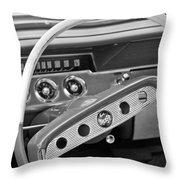 1961 Chevrolet Impala Ss Steering Wheel Emblem Throw Pillow