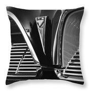 1961 Pontiac Catalina Grille Emblem Throw Pillow
